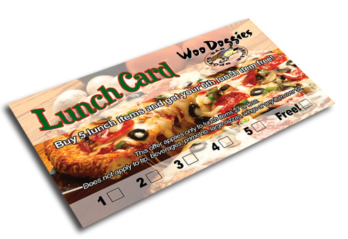 Promotional lunch card for bar/restaurant by J-Squared