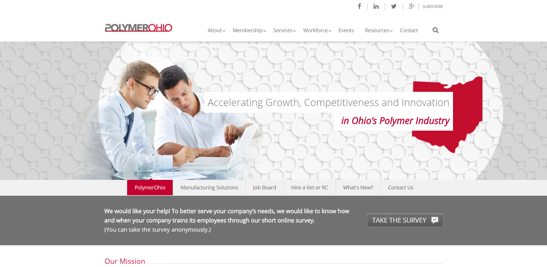 PolymerOhio website thumbnail